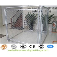 Power Coated Four Sides Chain Link Fence Dog Kennel