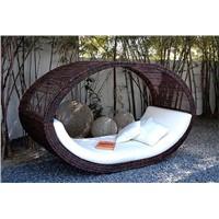 rattan/wicker swing sun bed