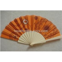 trational cloth fold advertising fan with plastic handle