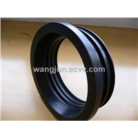 cast iron soil pipe gasket, no hub coupling service weight gasket