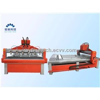 multi-spindle heads 4 axis cnc router machine