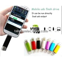 USB2.0 Swivel USB Flash Drive, 64MB to 32GB Capacity, No External Power, Plug-and-play Function