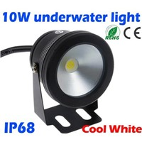 10W 12v underwater Led Light Cool White Waterproof IP68 fountain pool Lamp Black Cover Body