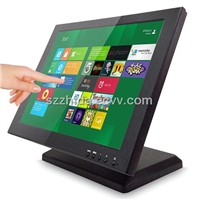 15inch touch screen monitor with VGA/DVI/USB for commercial and public