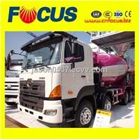 8m3 HINO concrete truck mixer , concrete mixer truck