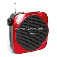A826 Portable Voice Amplifier, Supports LCD/USB/TF Card Playback and Recording Functions