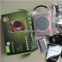 A827 Portable Amplifier with Handle Supports USB, T-flash Card and FM Radio