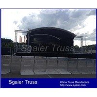 Aluminum crowd control barrier stage barrier Police barrier