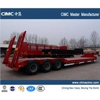 CIMC 13m ,80tons heavy equipment transport trailer manufacturer mobile 8613589096822