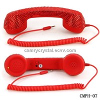 Cool Red Crystal Retro Handset for iphone Ipad