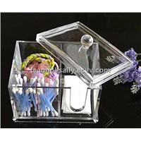 Display Type acrylic cotton box-cotton tip holder wholesale