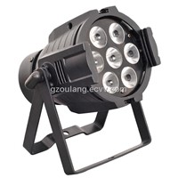 HOT 7 pcs 4 in 1 RGBW(A) 10w led led par can 64 china