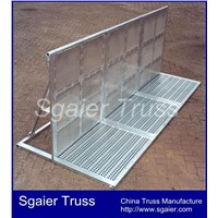 High Quality Aluminum Concert Barrier Crowd Portable Barrier Road Police Barrier