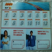 Medical Gifts anti slip transparent PVC table Desk Mat with double sides customer logo