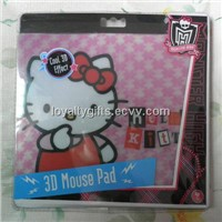 PET 3D Lenticular computer Mouse Pad  with EVA or rubber base