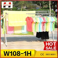 Portable folding drying clohes rack