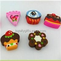 Promotional Stationery Fancy Cake Design Rubber Eraser