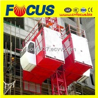 SC200/200 2tons double cages Construction Hoist for sale