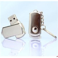 Short mini metal keychain USB flash drive