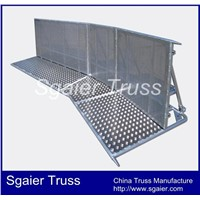 Stage barrier sports barrier Police barrier