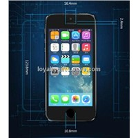 Tempered Glass Screen Protector for iphone 0.2mm 9H 5s Toughened protective shock proof film