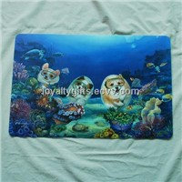 Xmas Gifts Custom UV printed plastic pp placemat