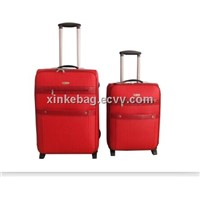 bright color trolley luggage case set