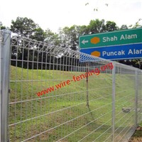 hot dipped galvanized top roll steel fence