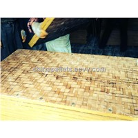bamboo pallets for block machine