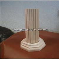 V-grooved Tambour board and molding for pole covering and interior decoration