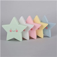 Creative Star LED Night Light Glued Glowing Toys Bedroom Decoration Night Lighting Cute Smile Star Night Lights Kids Toys Lamp