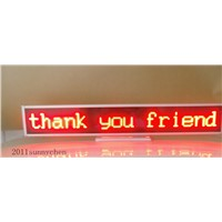 Red Programmable LED Message Display Panel Board 16x128