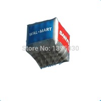 Commercial square shape advertising inflatable balloons with digital logo printing
