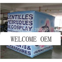 OEM Inflatable Cube Helium Advertising Balloon with 6 Sides Digital Printing Logo for Advertisement