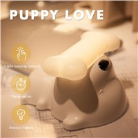 LED Cute Dog Bedside Touch Sensor Lamp USB Rechargeable Dimmable  Puppy Dog Table Lamp for Living Room Baby/Kids Bedroom