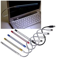 product Mini Portable Flexible 10 LEDs USB Light Computer reading Lamp for Notebook Laptop Computer Desktop PC Keyboard