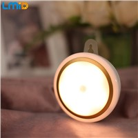 Lmid USB Rechargeable PIR Motion Sensor Lights Wireless LED Wall Lithium Cell Night Light Auto On Off For Hallway Bedroom Stair