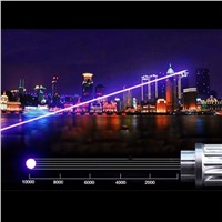 1200MW  laser pen Blue Laser Pointer Flashlight lighted cigarette & match Beam Lazer Module + 16340 Battery + Charger +  box