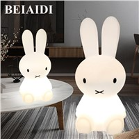 BEIAIDI Big Rabbit Dimmable Led Night Light 50/80CM Nursing large night light Baby Feeding Bedside large Cute Floor Table Lamps
