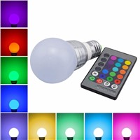 16 Colors Changing RGB LED Nigh light Holiday Decorative Atmosphere lamp E27 5W 85V-265V LED Ball Bulb with IR Remote control