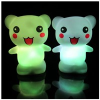 HHTL-Color Changing LED Night Light Lamp Home Kids Baby Room Wedding Decor Toy Gift Pet dog