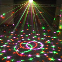 Bluetooth 9 Color 27W MP3 Magic Ball Led Stage Lamp 21 Modes Voice Control Disco DJ Party Lights Laser Projector Lamps