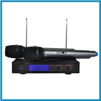GR-6200 High quality Dual Channel cheap professional ktv karaoke VHF Wireless Microphone system