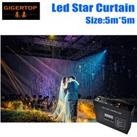 High Quality 5M*5M Led Star Curtain RGB/RGBW LED Star Cloth LED Backdrops for DJ Stage Wedding Backdrops Light Curtains
