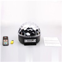 Bluetooth MP3 Magic Crystal Ball KTV Disco Colorful Laser Stage Lighting Sound LED Big Magic Ball With USB Disk Remote Control