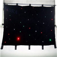 2m*4m LED curtain fabric , High brightness quality 160pcs leds RGBW color star backdrop,RGB LED Star cloth