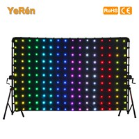 LED Video Curtain LED Backdrop MotionDrape LED DJ Effect Lighting P18 6.56x3.28ft  2x1meters  RGB SMD 5050 SD card Controller