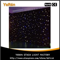 Led Star Cloth Led Star Curtain Wedding Backdrop Stage Background Cloth 3x6m Blue & White Color