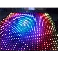 P9 5M*6M Fireproof Led Vision Curtain DJ Backdrop PC Mode+DIY Program Available Light Cloth RGB 3in1 Curtains on line controller