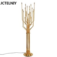 led lamp personalized gold stainless steel floor lamp modern brief  aj lamp floor